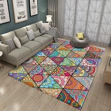 2020non-slip boêmio mandala estilo floral padrão tapete tapete sala de estar varanda banheiro cozinha sala de estar quarto tapete