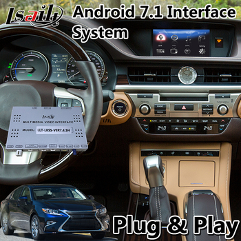 Android 7.1 Gps Navigation Interface Box for Lexus ES300h Mouse Control 2013-2019 year wireless auto carplay  ES 300h
