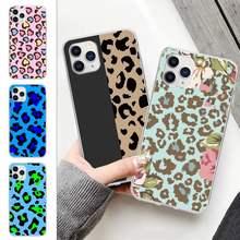 Popolar moda leopardo impressão celular transparente caso para samsung galaxy a21s a71 s8 s9 s10 plus lite s20 nota 20 ultra capa