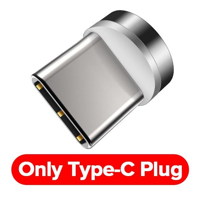 INIU Магнитный кабель 3A Micro USB C quick charge 3,0 для iPhone 11 X samsung Быстрая зарядка Магнит usb type C зарядное устройство для мобильного телефона - Цвет: Only Plug For Type C