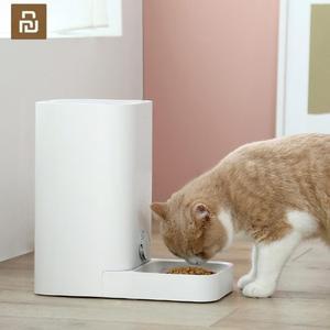 Image 1 - وحدة تغذية ذكية للقطط من YouPin جهاز تغذية تلقائي للقطط الحيوانات الأليفة جهاز تغذية لا يعلق أبدًا موزع طعام الحيوانات الأليفة الطازج Cibo Gatto