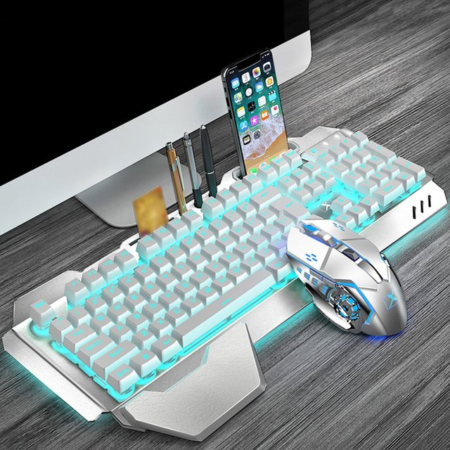 K680 Gaming keyboard and Mouse Wireless keyboard And Mouse Set LED Keyboard And Mouse Kit Combos 4