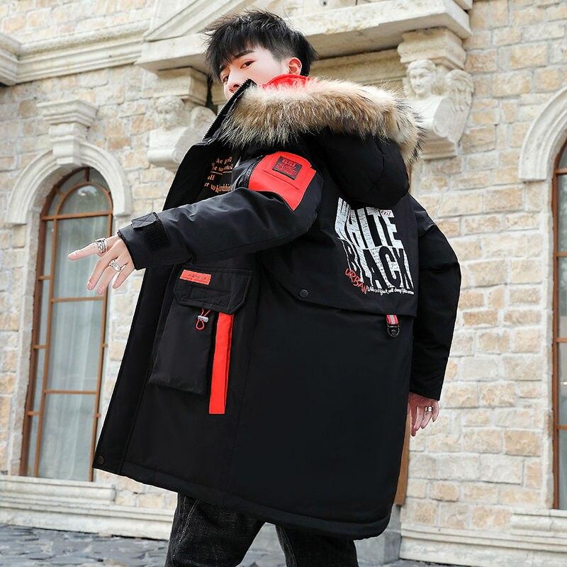 Winter Jacket Men Parka Coat Thick Warm Windbreaker Men's Long Parka Waterproof Fur Hooded Parka Overcoat Manteau