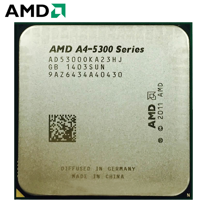 AMD A4-Series A4-5300 A4 5300 APU A4 5300K A4 5300B 3.4GHz Dual-Core CPU Processor Desktop AD530BOKA23HJ 65W Socket FM2