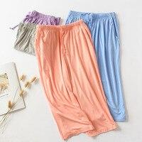 Verano cómodo señoras modal pantalones de sección delgada deportes suelto multicolor de gran tamaño elástico pantalones de Casa pantalones cortos de playa