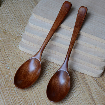 Wooden Spoon Bamboo Kitchen Cooking Utensil Tool Soup Teaspoon Catering For Kicthen Wooden Spoon 813