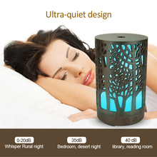 200ml USB hollow electric humidifier aroma diffuser ultrasonic wood grain air humidifier with 7 color LED light home