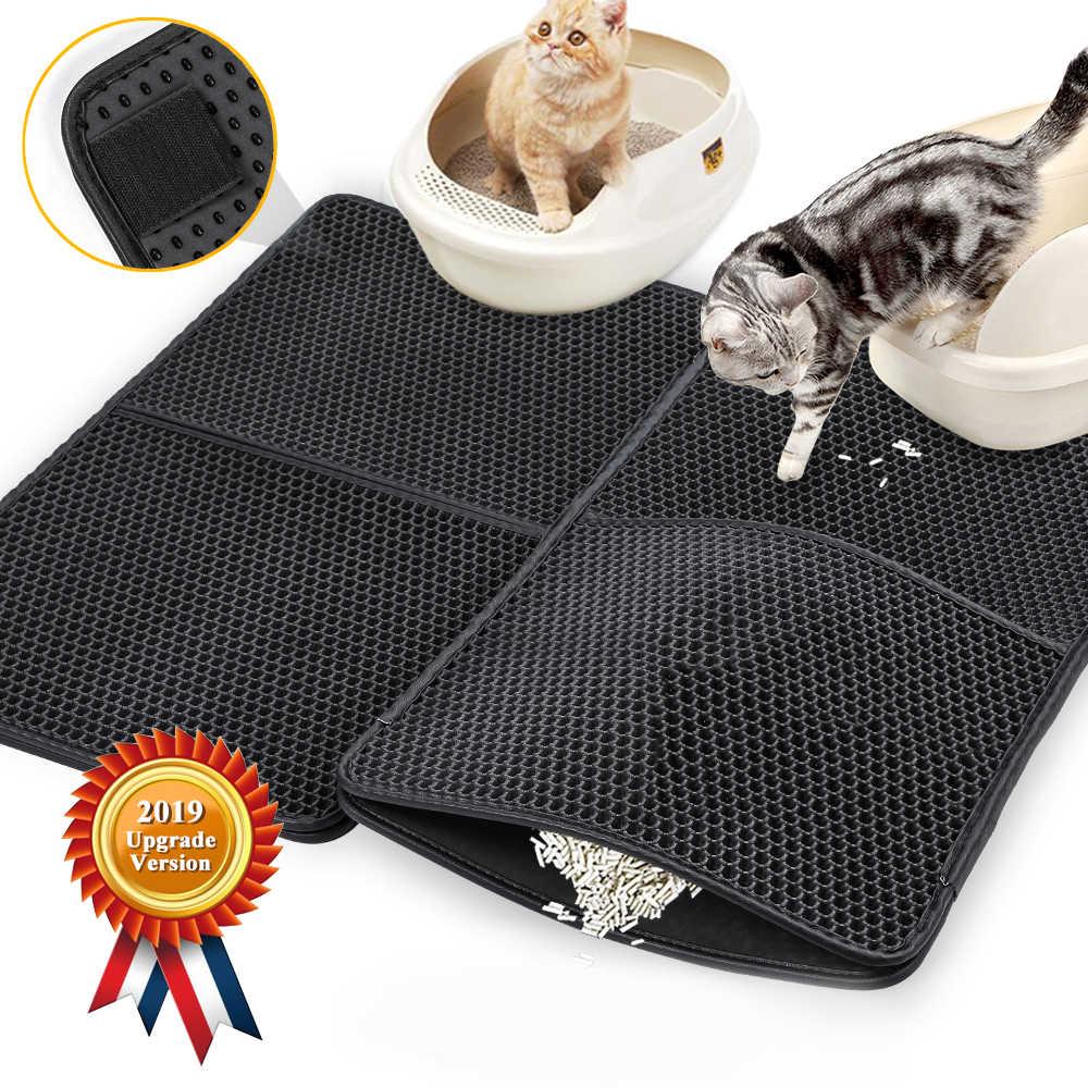 กันน้ำสัตว์เลี้ยงแมวคู่ชั้น Litter Cat แผ่นดักจับ PET Litter BOX สัตว์เลี้ยงผลิตภัณฑ์เตียงสำหรับแมว house Clean # T