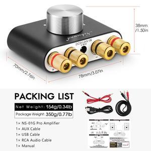 Image 5 - 2020 Nobsound Mini Bluetooth 5.0 Digital Amplifier Hifi Stereo Wireless Audio Receiver Power Amp 50W+50W Car Sound Amplifiers