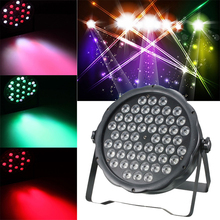 LED Par Lights 160W 54 LED Voice-controlled Stage Lamp DMX512 for KTV  Club disco DJ Disco Ball Stage Light Christmas Projector стоимость
