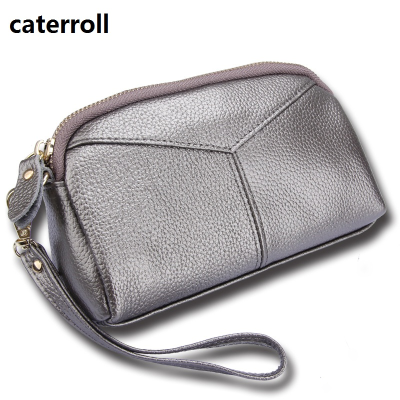 Women Coin Purse Genuine Leather Wallet Real Leather Womens Wallets And Purses Luxury Brand Clutch Hand Bag