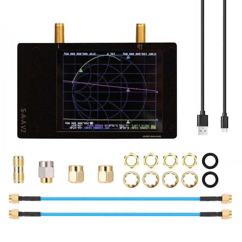 Многофункциональный 3G векторный сетевой анализатор Портативный S-A-A-2 NanoVNA V2 HF VHF UHF классический антенный анализатор