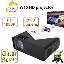 Проектор ByJoTeCH W15, поддержка 1080P видео через HDMI, домашний кинотеатр, Wi Fi, многоэкранный, Android 9, опциональный проектор