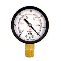 """الجاف فائدة مقياس ضغط تفريغ الهواء Blk الصلب 1/4 """"NPT أقل جبل 30HG/0PSI TS50 1 + 1 سبائك النحاس المزدوج مقياس PSI-في مقاييس الضغط من أدوات على"""