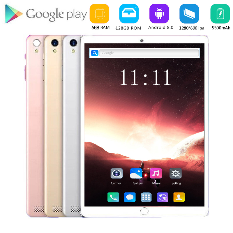 2020 Hot Seller Android 8.0 10.1 Inch Tablet Octa Core 6GB RAM 128GB ROM 4G LTE Dual SIM Card Tablets 10.1 1280x800 IPS Tablets