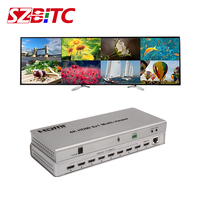 SZBITC 4K HDMI 8x1 Multi viewer HDMI Switcher 8 in 1 out Divider Display 8 HD Digital Video Signal on the same screen IR Control