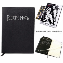 A5 Anime Theme Notebook Set Death Note Pad Cartoon Note Book Writing Paper Planner Feather Pen Bookmark Gift School Supplies