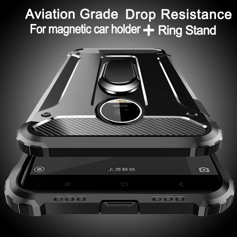 Aviation Shockproof Ring Stand Phone Case For Moto G7 G6 G5S G5 G4 E5 P40 P30 Z4 Plus Play Go One POWER Note Z Play Case