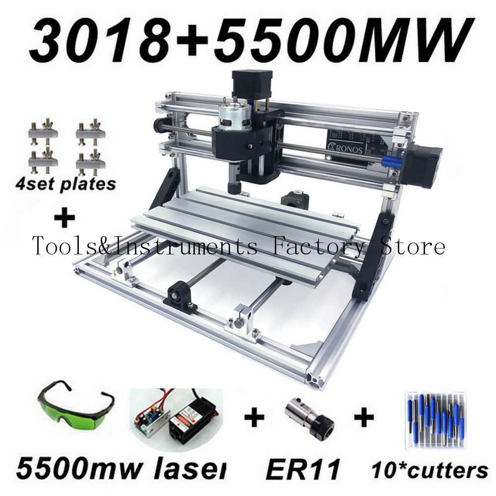 Upgraded Mini CNC Engraving Machine 5500mw 2500mw 500mw Wood Router PCB Milling Machine Wood Carving Machine DIY Mini CNC
