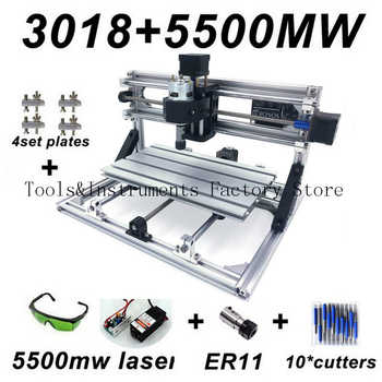 Upgraded Mini CNC Engraving Machine 5500mw 2500mw 500mw Wood Router PCB Milling Machine Wood Carving Machine DIY Mini CNC - DISCOUNT ITEM  51% OFF All Category