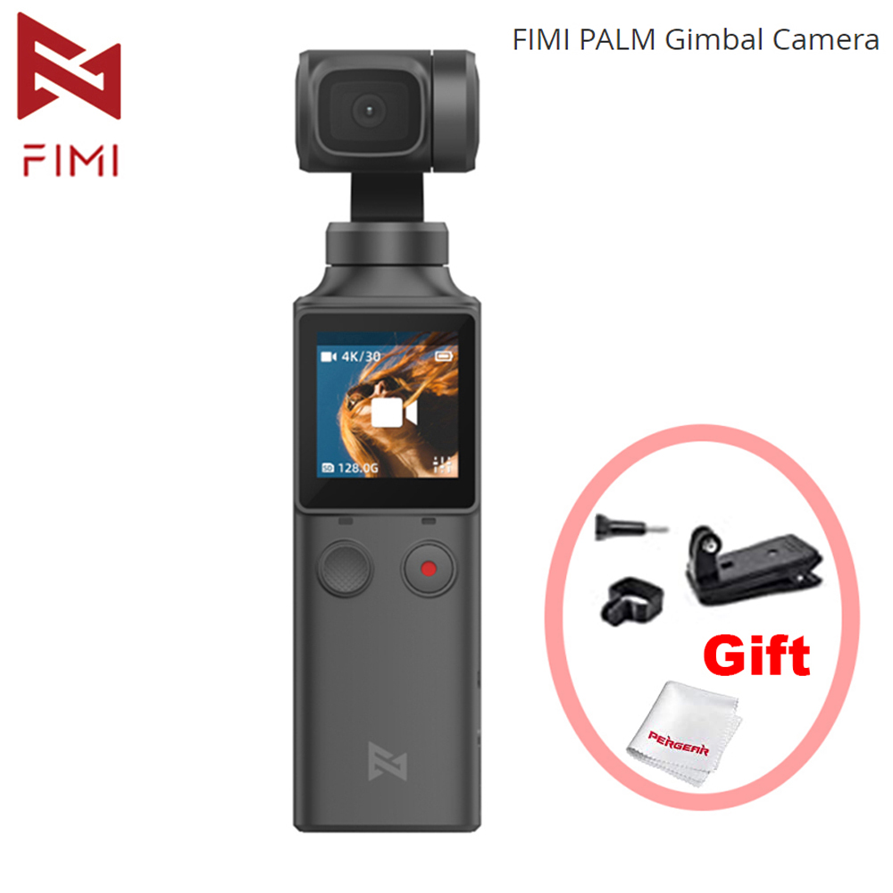 FIMI PALM 3-Axis Handheld Camera Gimbal Stabilizer 120g 4K HD 128     Wide Angle Smart Track Built-in Wi-Fi Control  amp  Microphone