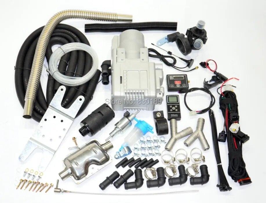 Телефон Gsm/светодиодный пульт дистанционного управления + (5 кВт 12 В) водонагреватель жидкости для дизельного/газового двигателя автомобиля ...