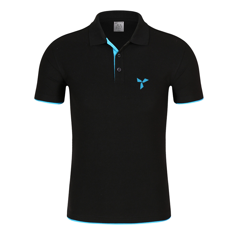 2020 NEW Clothes Men Knitted Polo Shirt Contrast Color Short Sleeve Turn-down Neck Top Breathable Plus Size Sport Men's Polo Tee 3