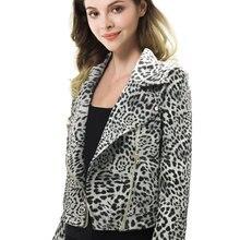 2019chaqueta de mujer Vintage con estampado de piel de leopardo chaqueta suelta de manga larga con cremallera bolsillo prendas de vestir Chic abrigo realshe