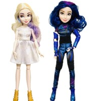 28cm Original Girls White hair Mal Princess Blue hair Evie Dolls toy beautiful doll Christmas Gift
