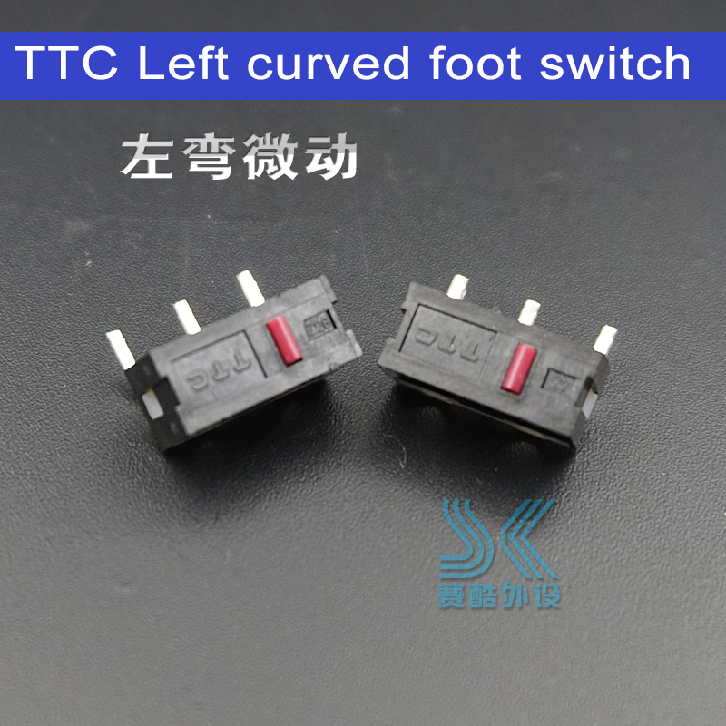 TTC Original Mouse Micro Switch Left Right Curved Foot Switch FOR Sensei RAW RIVAL IKARI Mouse Side Buttons 2pcs Free Shipping