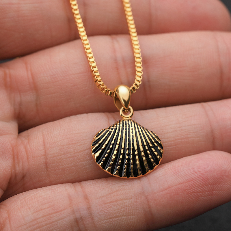 Scallop Shell Necklace For Women Girls Dainty Gold Chain <font><b>Ketting</b></font> Necklaces Pendents <font><b>BFF</b></font> Jewelry Long Statement Collares Mujer image