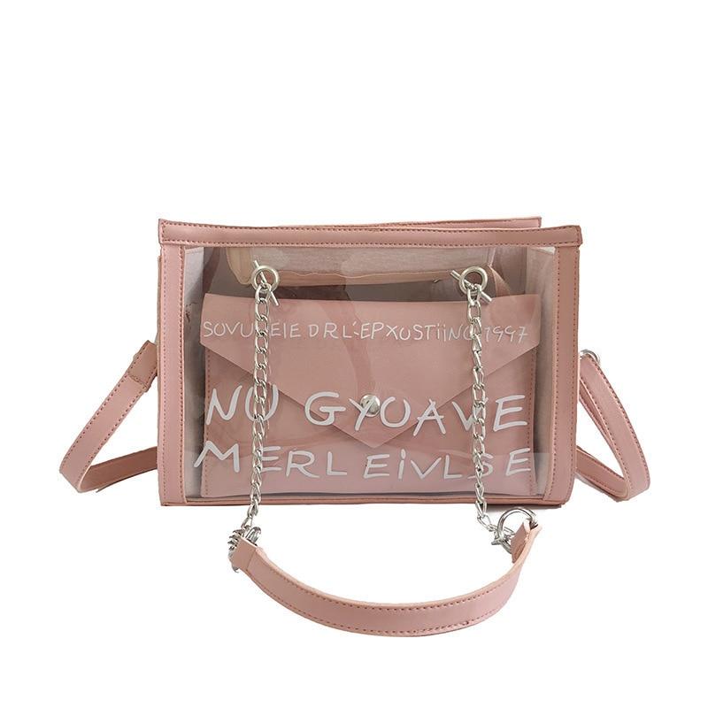Luyo Summer Beach Transparent Luxury Handbags Women Bags Designer Ladies Plastic Shoulder Crossbody Bags For Women Day Clutches