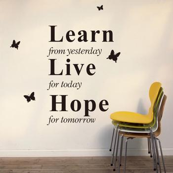 Learn From Yesterday Live Hope Decor Vinyl Wall Decal Quote Sticker Inspiration Vinyl Sticker Home Decal 2