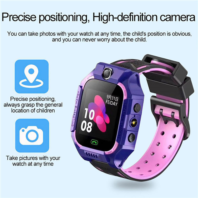 Kids GPS Smart Watch Anti-lost Safe GPS Tracker SOS Call GSM waterproof Smartwatch Phone For Android IOS Children