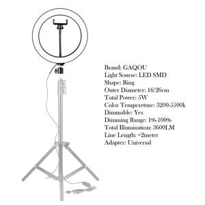 Image 2 - Диммируемый светодиодный кольцевой светильник, 16/26 см, 3200 5500k
