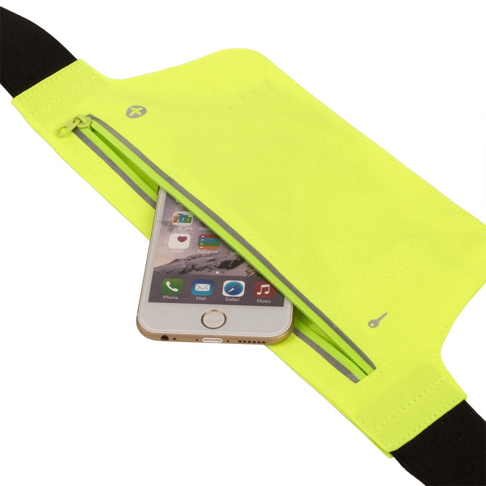 Outdoor Sport Waist Bag Running Waterproof Reflective Multi-functional Body Hugging Ultra-Thin Hidden Fitness Mobile Phone Bag