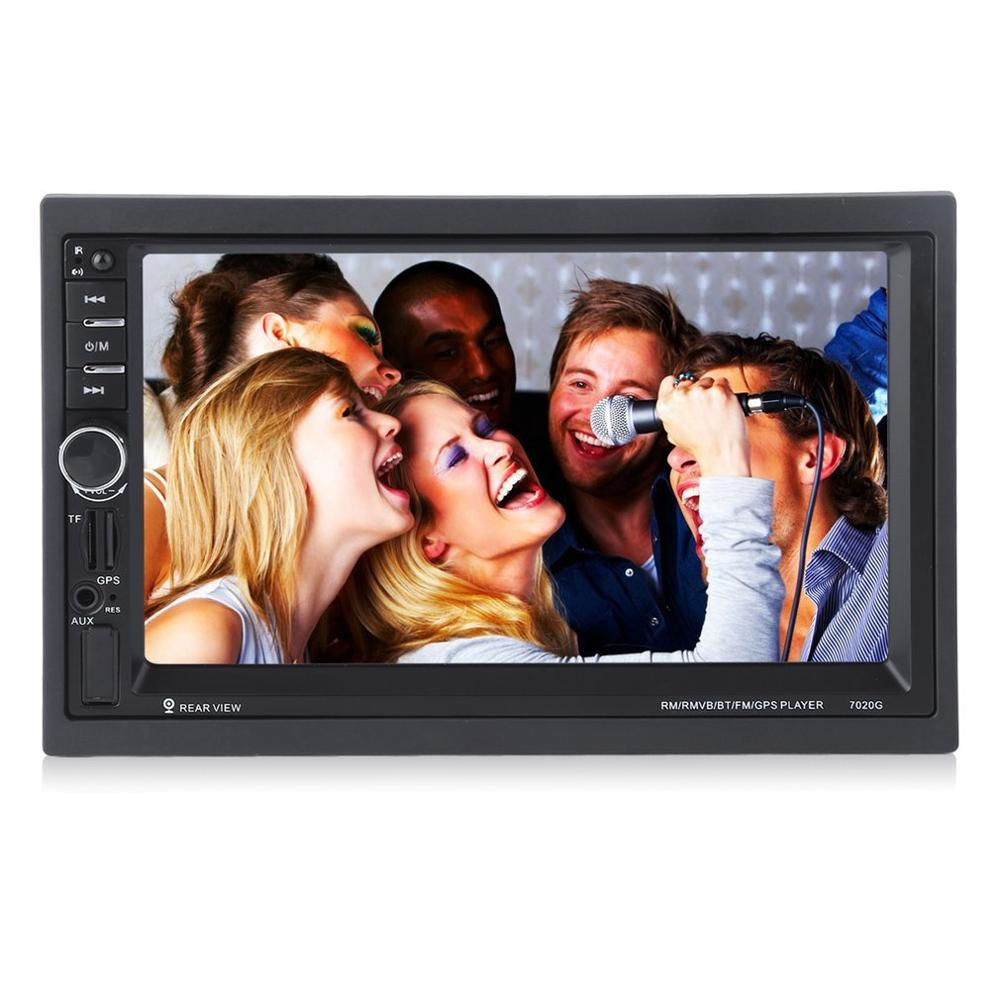 <font><b>7020G</b></font> Car Audio Stereo MP5 Player with Rearview Camera 7 inch Touch Screen GPS Navigation FM Function image