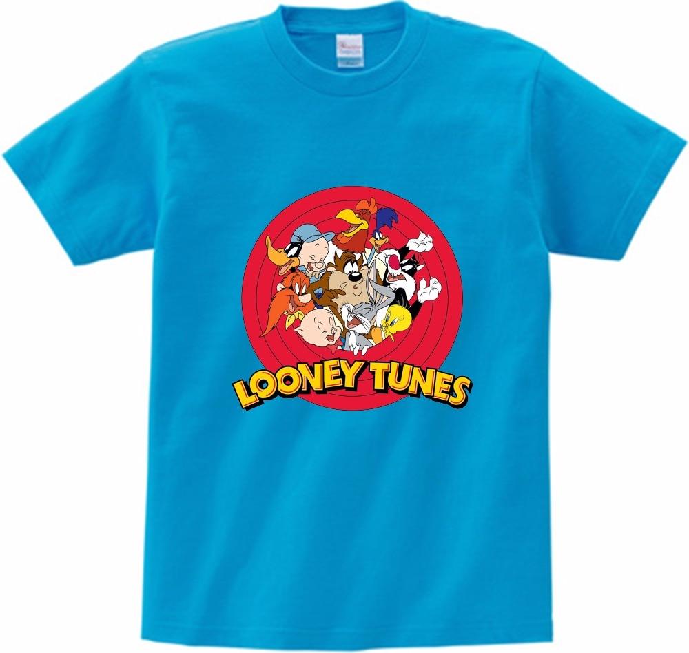 2019 NOVO Looney Tunes Tasmanian Devil Não Desculpa O Meu Dia Para Cuidar T-Shirt Impressão T Camisa dos miúdos de Manga Curta Hot camisa do bebé verão