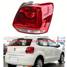 For VW Polo 6R Hatchback 2009 2010 2011 2012 2013 tail light turn signal taillights assembly Bumper Light Tail Stop Lamp Brake new for vw polo 2010 2011 2012 2013 right side led tail light rear light 6r0945096