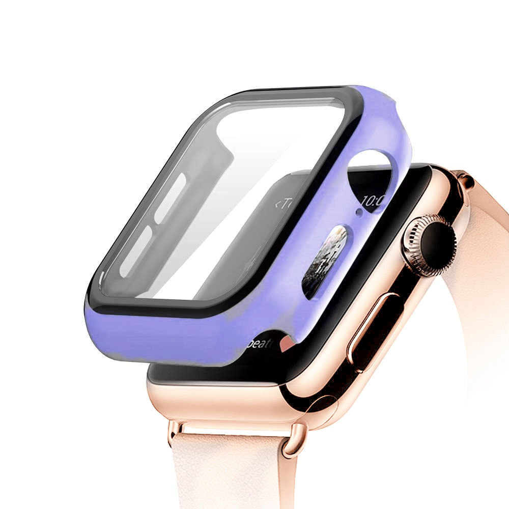 Tempered Glass+case For Apple Watch 5 4 44mm 40mm iWatch 3 2 1 42mm 38mm Screen Protector+cover bumper apple watch Accessories