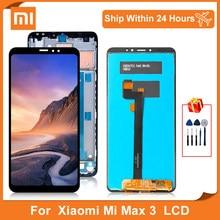 Pantalla LCD de 6,9 pulgadas para Xiaomi MI MAX 3, Digitalizador de pantalla táctil de pantalla con Marco, piezas de repuesto
