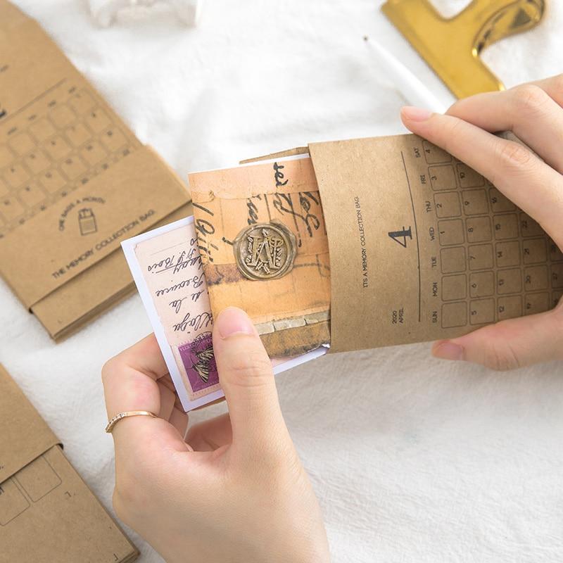 12pcs/set DIY Vintage Movie Ticket Memory Collection Bag Classified Receipt Bags Bullet Journal Decoration School Supplies