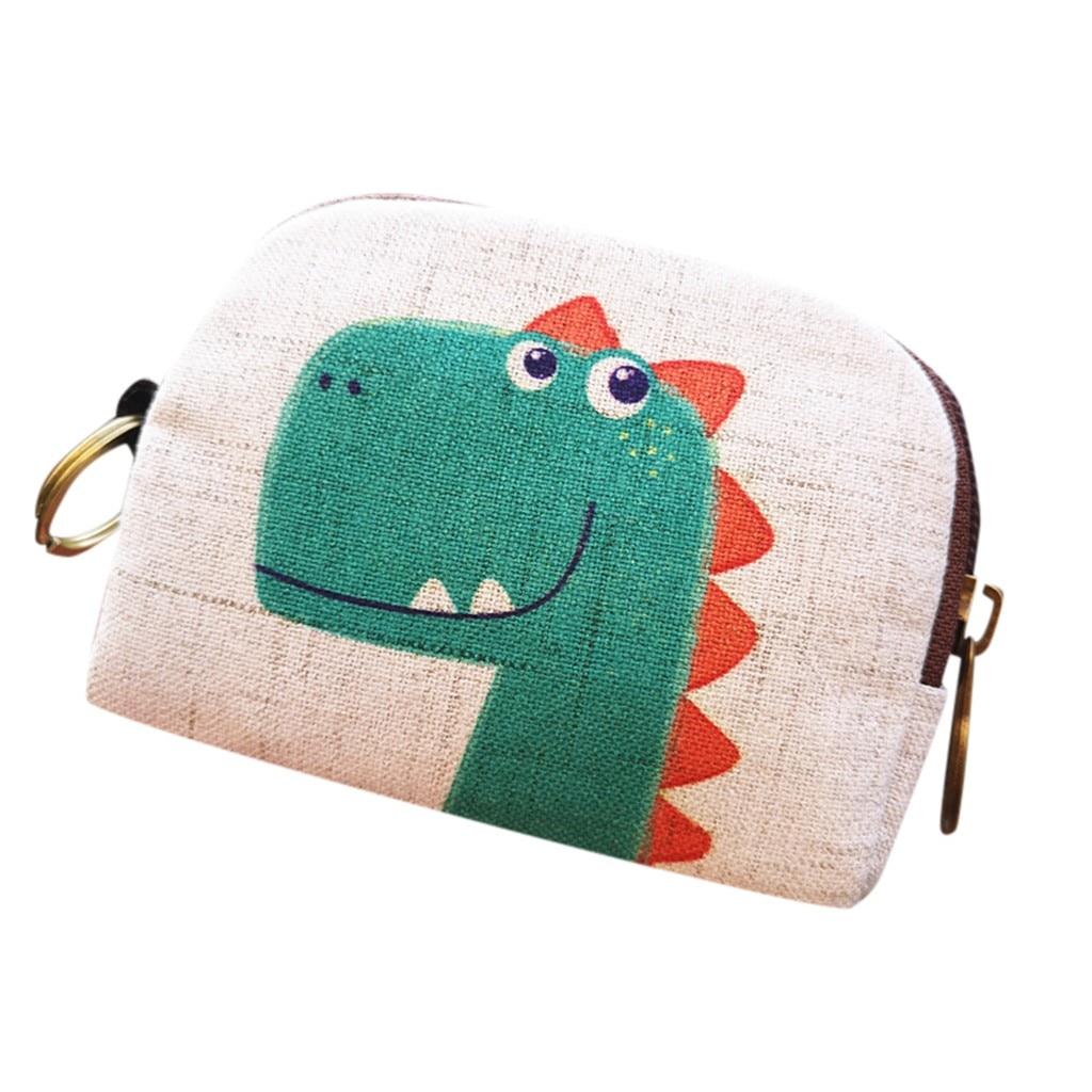 Women/'s Cartoon Coin Purse Small Change Wallet Mini Pouch Backpack Zip Handbag