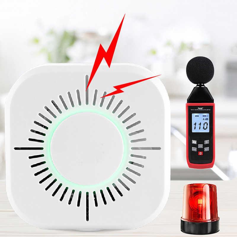 Czujka dymu bezprzewodowy 433MHz ogień bezpieczeństwa ochrony czujnik alarmu dla automatyki inteligentnego domu, praca z Sonoff RF most