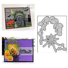 Cutting-Dies Plates Frame Scrapbooking Card-Craft No-Stamp Embossing-Hot-Foil Metal Halloween-Web