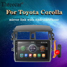 1 din Car Radio MultimediaPlayer Mirror Link Capacitive touch screen For Toyota Toyota