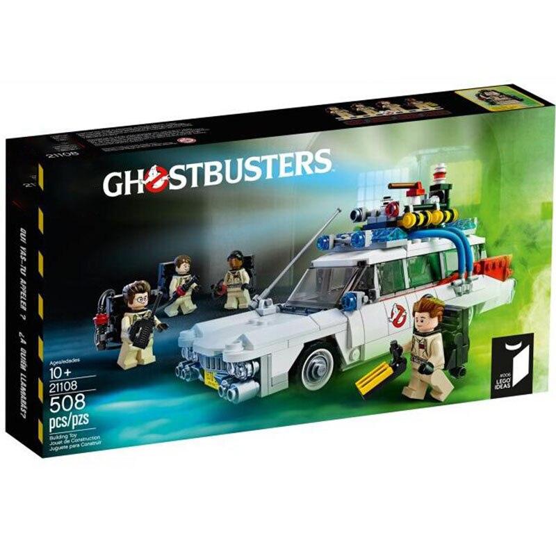 Новинка 10274, 21108, строительные блоки GhostBusters Ecto-1, кирпичные игрушки для детей, образовательный подарок