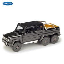 WELLY  1:24 Mercedes-Benz G63 AMG 6X6  Car sports car machine Simulation Alloy Car Model Collection toy tools
