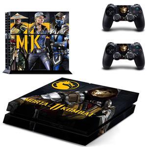 Image 5 - Mortal Kombat PS4 autocollants Play station 4 peau PS 4 autocollant décalcomanies couverture pour PlayStation 4 PS4 Console & contrôleur peaux vinyle