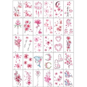 30Pcs/Set No Repeat Temporary Tattoo Stickers Waterproof Arm Clavicle Body Art Sticker Disposable butterfly tatouage temporaire 4